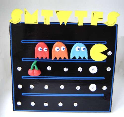 [Decoração] Como criar um Super Calendário do Pac Man!!