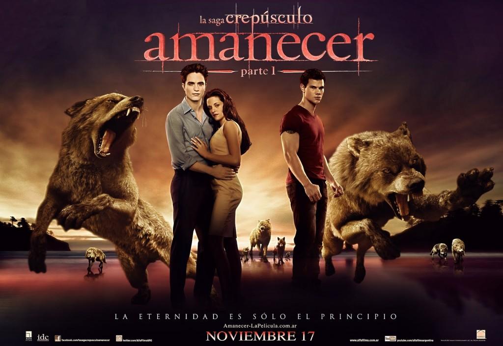 Amanhecer de Bella e Edward é ofuscado pela interação dos amigos de Jacob, a alcatéia de lobisomens de Crepúsculo